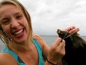 Fladfisk fanget med harpun