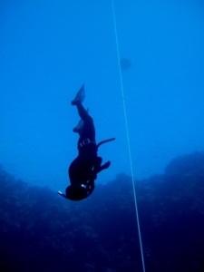 Astrid Rosenvold, dyb fridykning i Blue Hole, Dahab