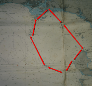 Panama ruten 300x282 - Undervandsjagt i Panama, Stillehavet