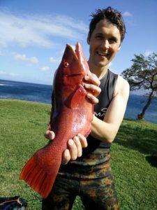 Orange Vildsvine fisk harpun Rob Allen 225x300 - Webshops, bøger, forum og sider