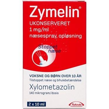 zymelin ukonserveret 1 mgml 20 ml naesespray oploesning 584414 - Zymmelin - næsespray til stoppede luftveje