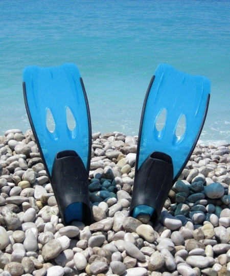 svømmefødder guide 450x540 - Snorkeludstyr, snorkling og snorkelsæt