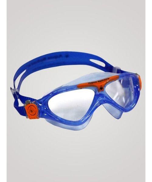 Aqua Sphere Vista Junior Klar Linse Blå orange - Aquasphere Vista Junior dykkerbriller. Klar Linse - Blå/orange