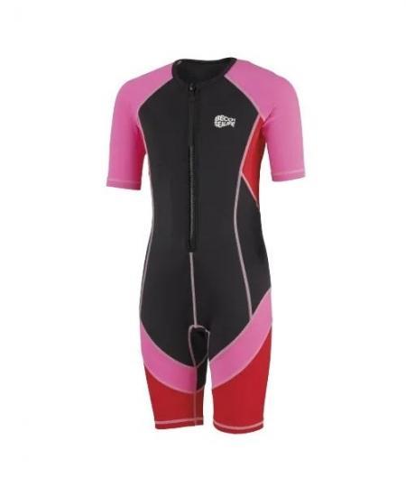 Beco Sealife shorty våddragt sort pink 450x540 - Soldragt