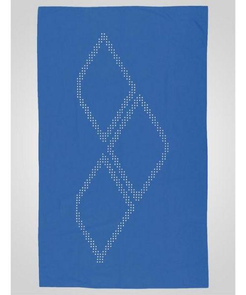 Arena Halo mikrofiber håndklæde Lyseblå - Speedo Border Towel - Blå