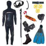 Den ambitiøse UV jæger komplet sæt 150x150 - TUSA Visio Pro maske til dykning