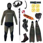 Den dedikerede UV jæger komplet sæt 150x150 - TUSA Visio Pro maske til dykning
