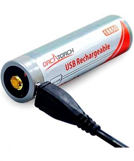 OrcaTorch 18650 batteri m. USB opladning 450x540 - OrcaTorch 18650 batteri m. USB-opladning
