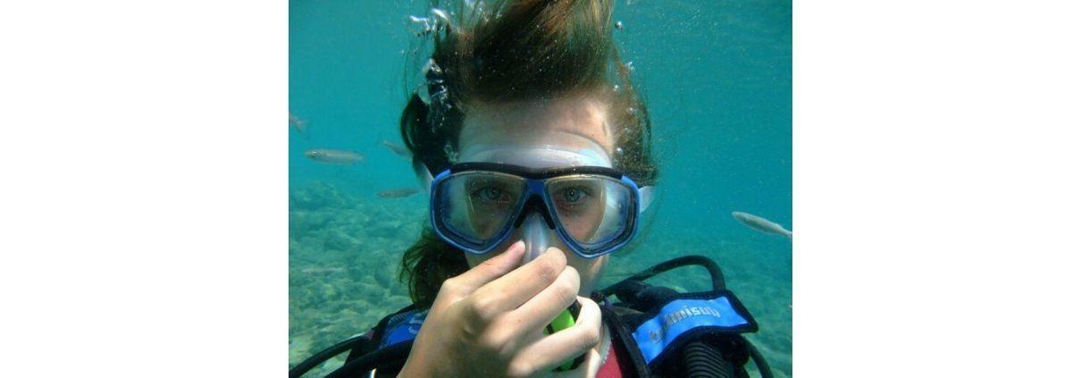 Dykkermaske og dykkerbriller med styrke side - Dykkermaske og dykkerbriller med styrke
