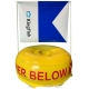 Diver Below Boeje gul m. Alpha flag 80x80 - Bigblue TL4800P